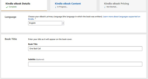 How to publish an ebook on Amazon Kindle